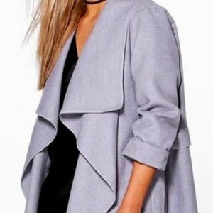 Boohoo gray wrap jacket coat. Size 16-18 US